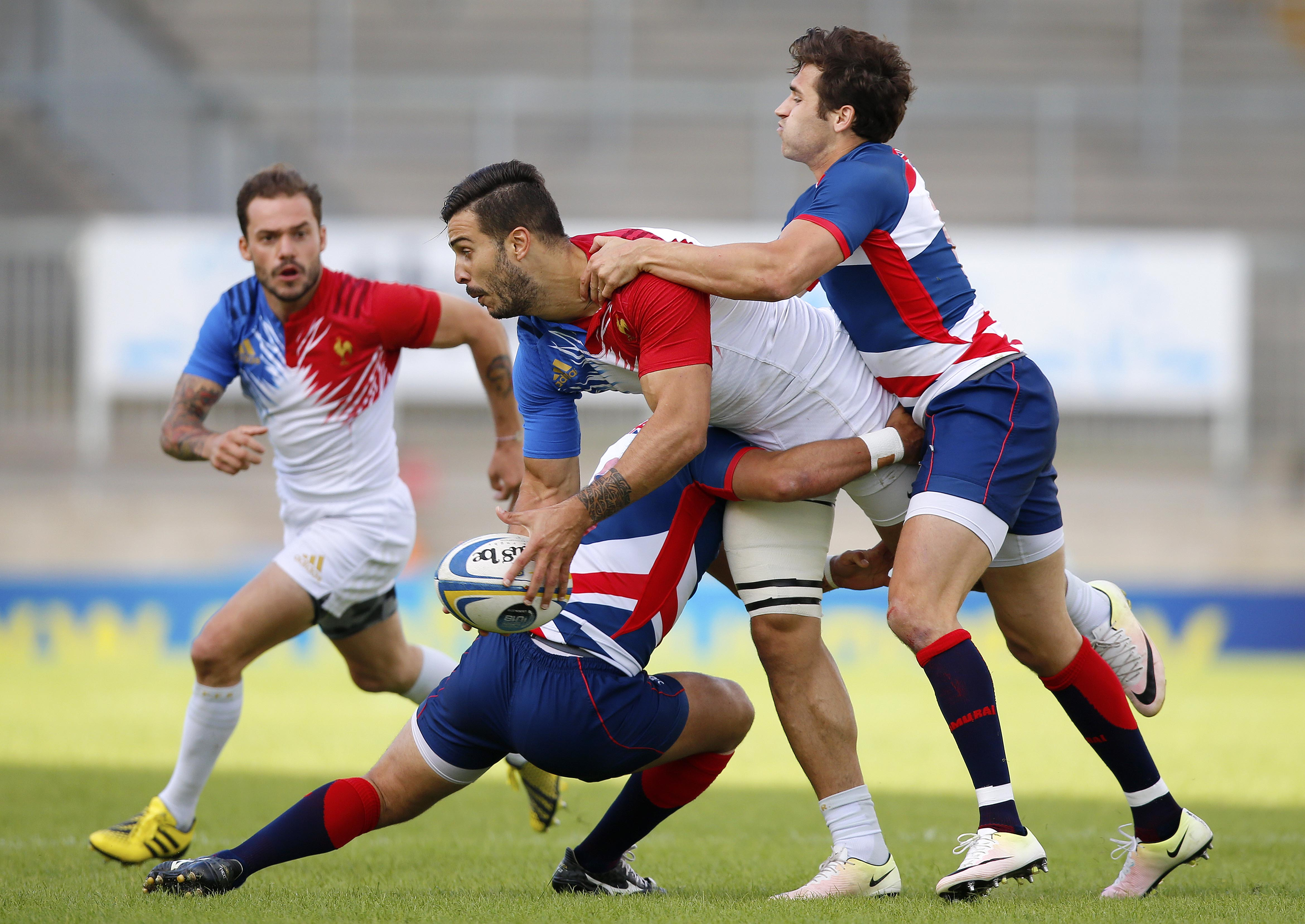 Great Britain Royals and France clash in the Exeter 7s final
